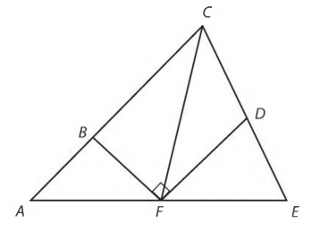 #GREpracticequestion F is the midpoint of AE, and D is the midpoint of CE.jpg