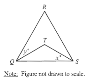 #GREpracticequestion In the figure above, QRS is an equilateral.jpg