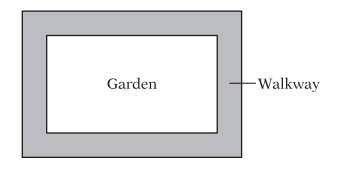 #GREpracticequestion The figure above represents a rectangular garden with a walkway around it.jpg