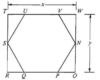 #GREpracticequestion Polygon SUVNPQ is equilateral and equiangular and TWOR is a rectangle.jpg